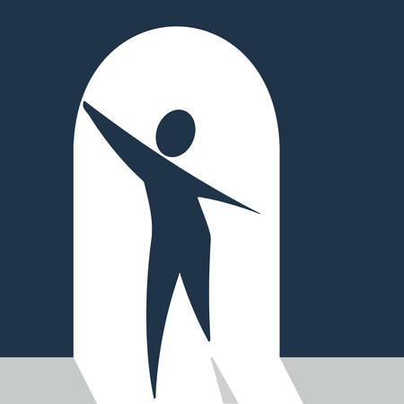 web personage in a doorway