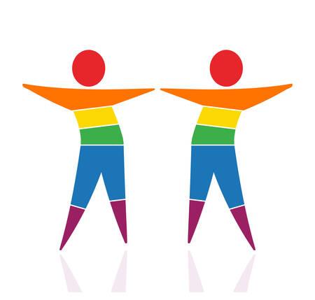 LGBT, couple, conceptual logo