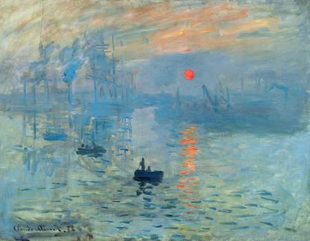 the Impression Sunrise by Claude Monet 1872. the Museum Marmottan Monet in Paris