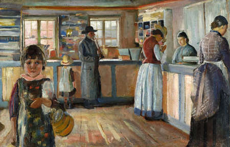 At General Store In Vrengen by Edvard Munch 1888. Lillehammer Art Museum in Norway Editorial