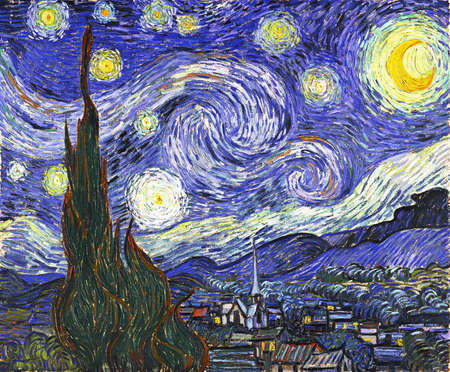 the Starry Night by Van Gogh 1889, Museum Of Modern Art in New York City