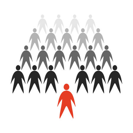 crowd of abstract web personages Vector Illustratie