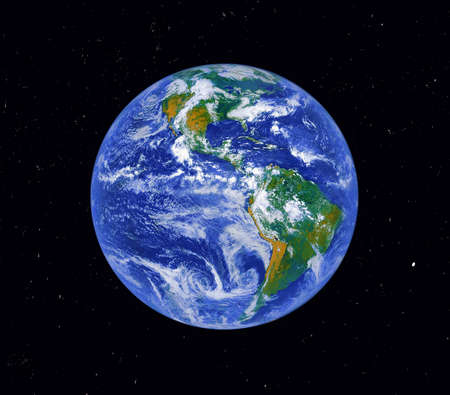 Planet Earth. Digitally altered.