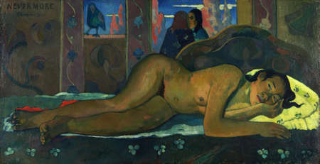 the Nevermore by Paul Gauguin 1897. Courtauld Gallery in London, UK
