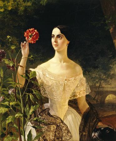 Portrait of Sophia Shuvalova by Karl Bryullov 1849. the Hermitage Museum in Saint Petersburg, Russia