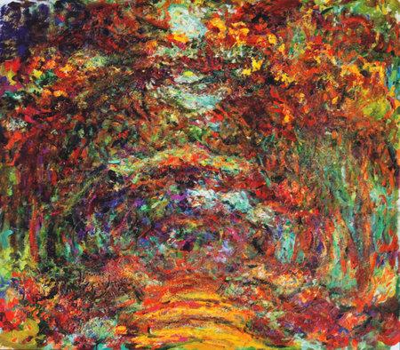 My digital altered The Rose Walk by Claude Monet 1922, Museum Marmottan Monet, Paris