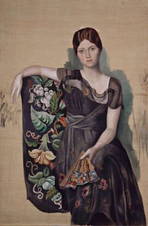 Olga in Armchair by Pablo Picasso 1918. Picasso Museum in Paris 新闻类图片