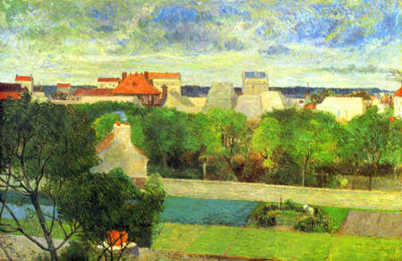 the Market Gardens of Vaugirard by Paul Gauguin 1879. Smith College Museum of Art in Northampton, USA Editoriali