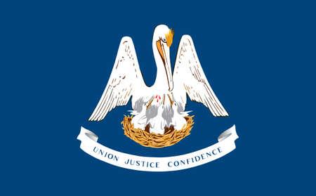 flag of USA state Louisiana 向量圖像