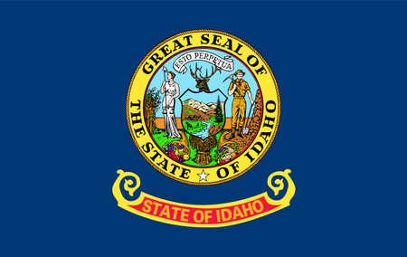 flag of USA state Idaho Ilustração