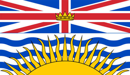 flag of Canadian state British Columbia Vecteurs