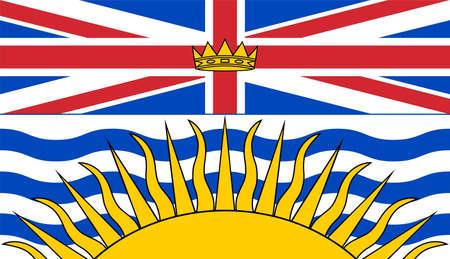 flag of Canadian state British Columbia Ilustração Vetorial