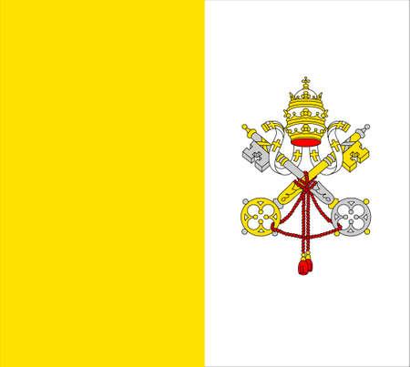 closeup flag of Vatican City