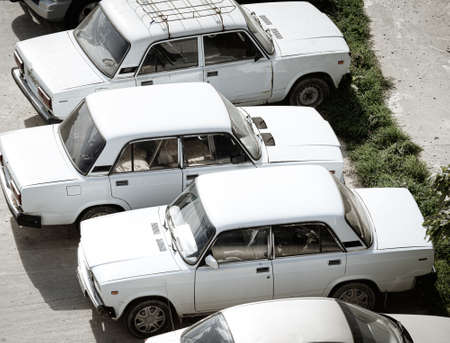 Russia 2020: parked russian retro cars VAZ Lada 2107