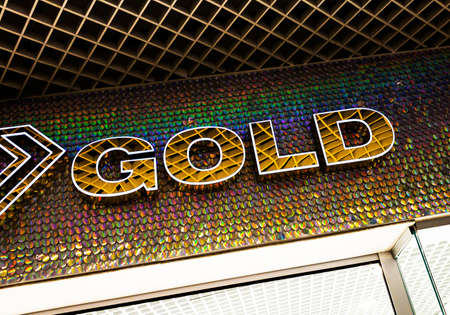 closeup the store sign Gold