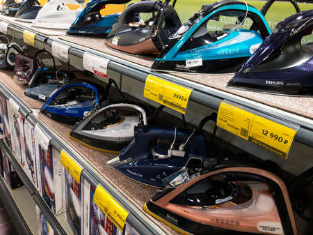 Russia 2020: electric irons on the store shelves