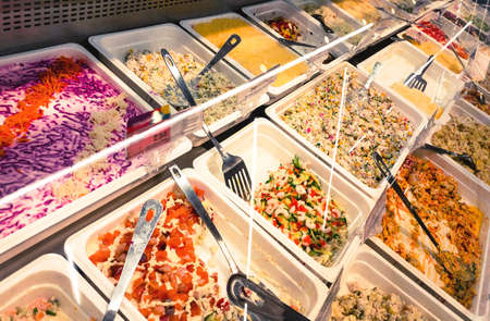 assortment of salads at sale