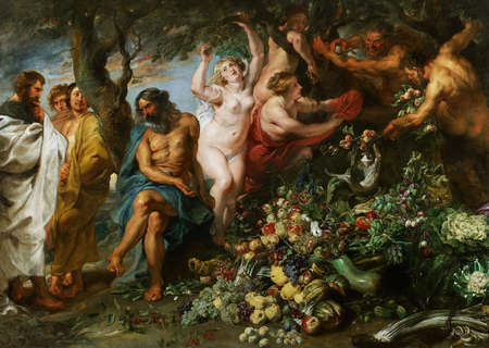 Pythagoras Advocating Vegetarianism by Peter Rubens and Frans Snyders 1630