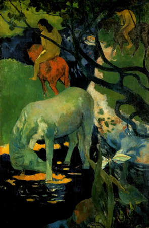 My digital altered The White Horse by Paul Gauguin 1898. Orsay Museum in Paris, France