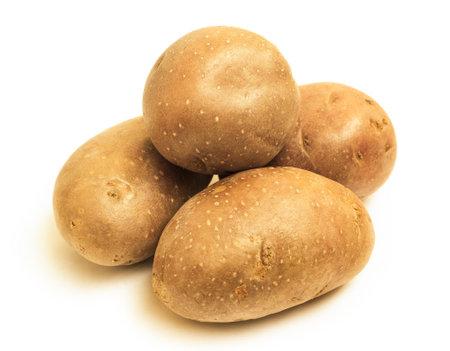 fresh potatoes, isolated on white