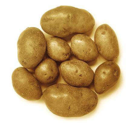 fresh potato, isolated on white