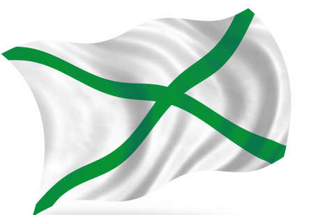 Ecological abstract flag, isolated on white