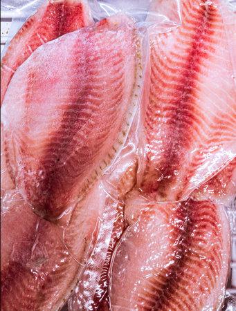 frozen vacuum packed fish fillet
