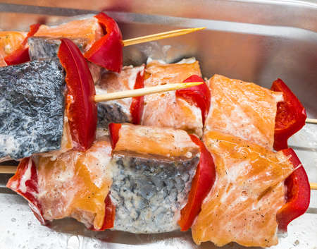 the salmon fish a grill