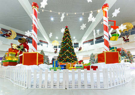 Christmas installation in commercial interior
