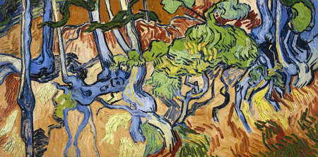 the Tree Roots by Vincent Van Gogh 1890. Van Gogh Museum in Amsterdam, Netherlands