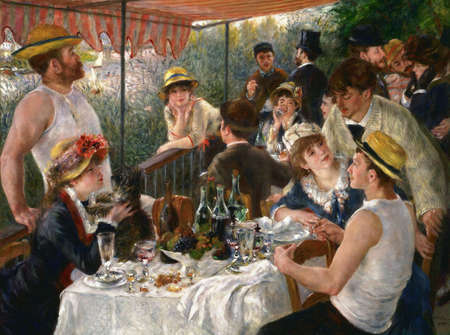 the Lunch On Of the Boating Party by Pierre Renoir 1881. the Phillips Collection Museum in Washington, USA