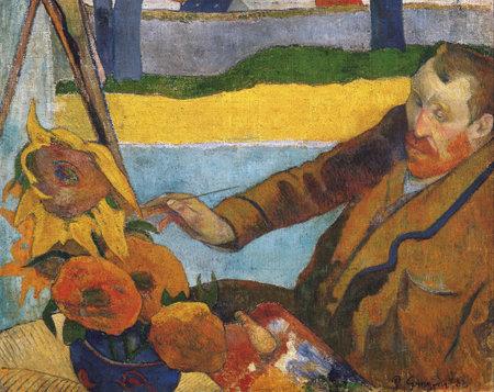 the Portrait Of Vincent Van Gogh by Paul Gauguin 1888. Van Gogh Museum in Amsterdam, Netherlands