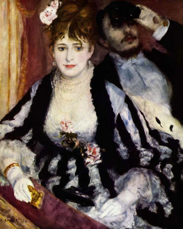 the Theater Box by Pierre Renoir 1874. Courtauld Institute Galleries in London, UK