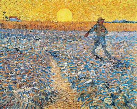 the Sower by Vincent Van Gogh 1888. the Kroller-Muller Museum in Otterlo, Netherlands