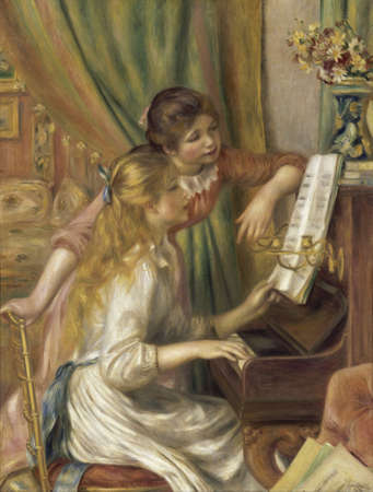 Girls at the Piano by Pierre Renoir 1892. Museum Orsay in Paris, France