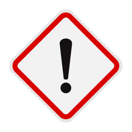 the exclamation point ! hazard warning sign
