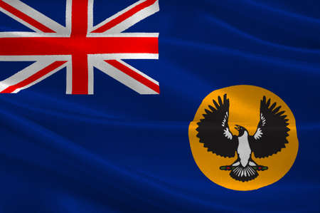 commonwealth: Flag of South Australia (SA) is a state in the southern central part of Australia. 3d illustration