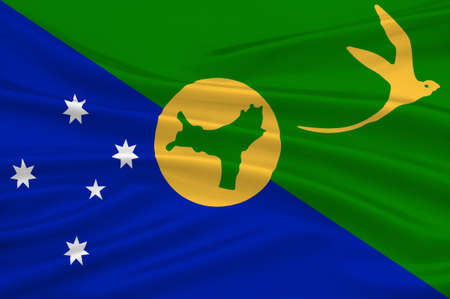 queensland: Flag of Christmas Island, officially the Territory of Christmas Island, is a territory of Australia in the Indian Ocean, comprising the island of the same name. 3d illustration