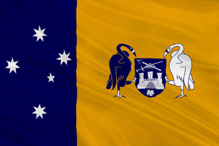 Flag of Australian Capital Territory (ACT) - Canberra is a territory in the south east of Australia, enclaved within New South Wales. 3d illustration