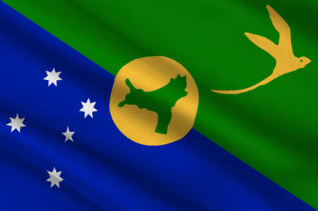 Flag of Christmas Island, officially the Territory of Christmas Island, is a territory of Australia in the Indian Ocean, comprising the island of the same name. 3d illustration