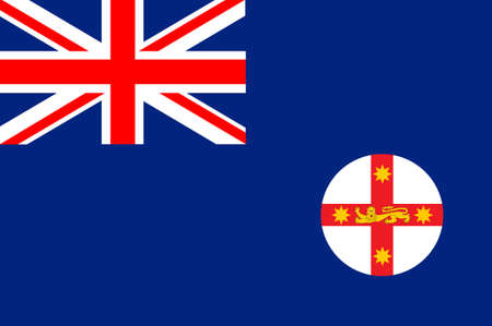 melbourne australia: Flag of New South Wales (NSW) is a state on the east coast of Australia. 3d illustration