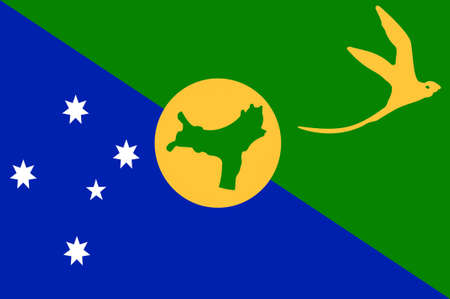 territory: Flag of Christmas Island, officially the Territory of Christmas Island, is a territory of Australia in the Indian Ocean, comprising the island of the same name. 3d illustration