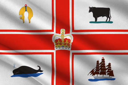 Flag of Melbourne is the capital and most populous city in the Australian state of Victoria, and the second most populous city in Australia and Oceania. 3d illustration