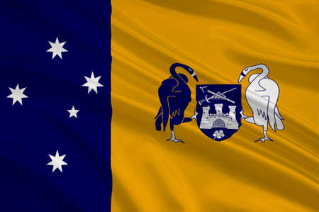 queensland: Flag of Australian Capital Territory (ACT) - Canberra is a territory in the south east of Australia, enclaved within New South Wales. 3d illustration