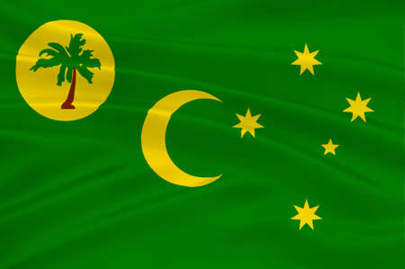cocos: Flag of Territory of the Cocos (Keeling) Islands, also called Cocos Islands and Keeling Islands, is a territory of Australia. 3d illustration