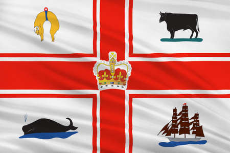 melbourne australia: Flag of Melbourne is the capital and most populous city in the Australian state of Victoria, and the second most populous city in Australia and Oceania. 3d illustration
