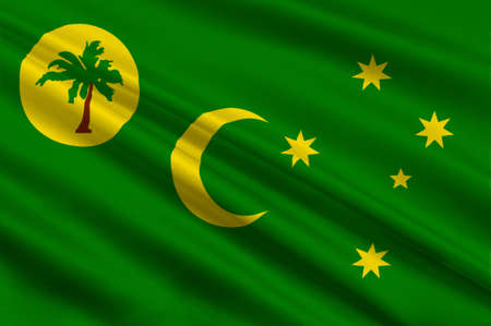 queensland: Flag of Territory of the Cocos (Keeling) Islands, also called Cocos Islands and Keeling Islands, is a territory of Australia. 3d illustration