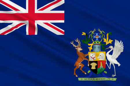 Flag of Queensland (Qld) is the second-largest and third-most-populous state in Australia. 3d illustration
