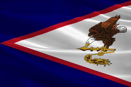 Flag of Territory of American Samoa. 3d illustration
