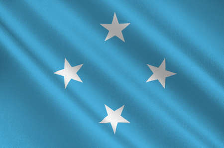 federated: Flag of Federated States of Micronesia. 3d illustration